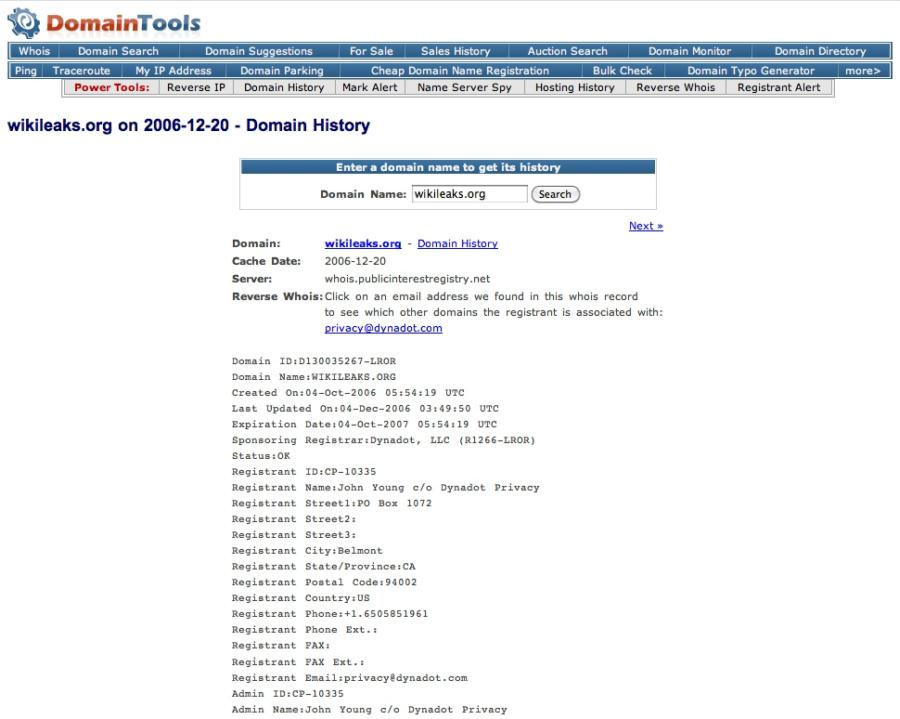 Wikileaks Series on Cryptome 2006-2011 with Related Files