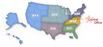 US Bureau of Prisons Location Maps