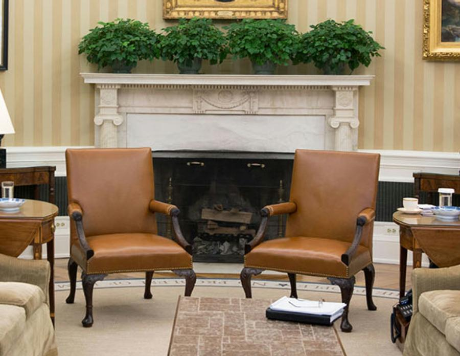 Oval Office Fireplace And Chimney