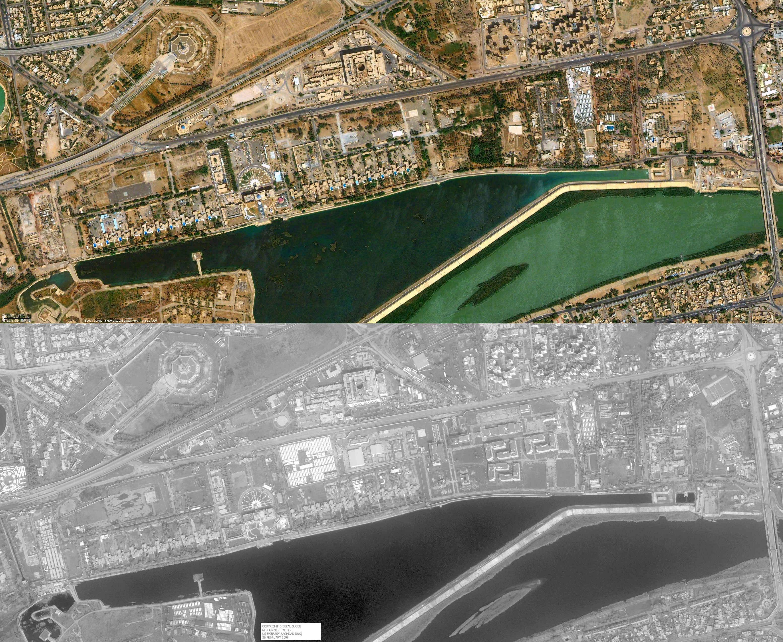 Satellite Photo US Embassy Baghdad 26 Feb 2008