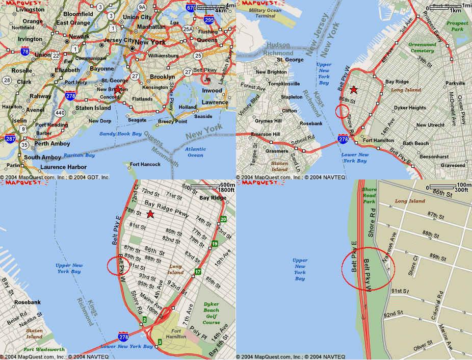 Eyeballing The NYC Brooklyn Gas System - Mapquest nyc