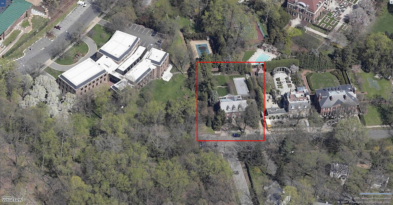 Genial Clinton DC Residence. Birdseye. Looking North Before Poolhouse Was Built