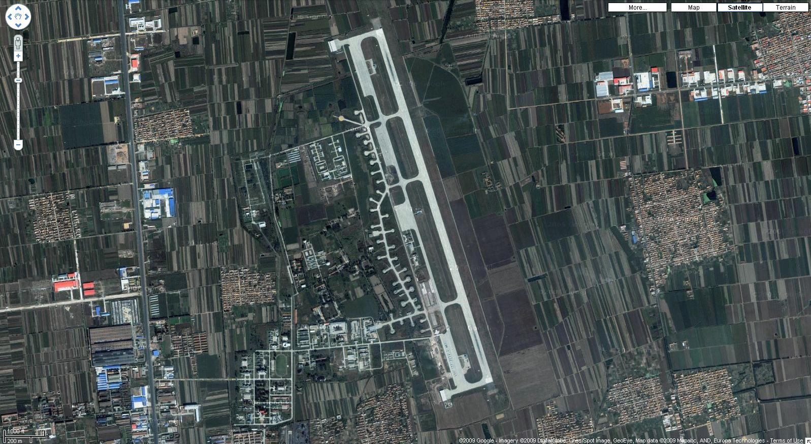 Peoples Republic Of China Military Air Bases - Jiaozhou city map