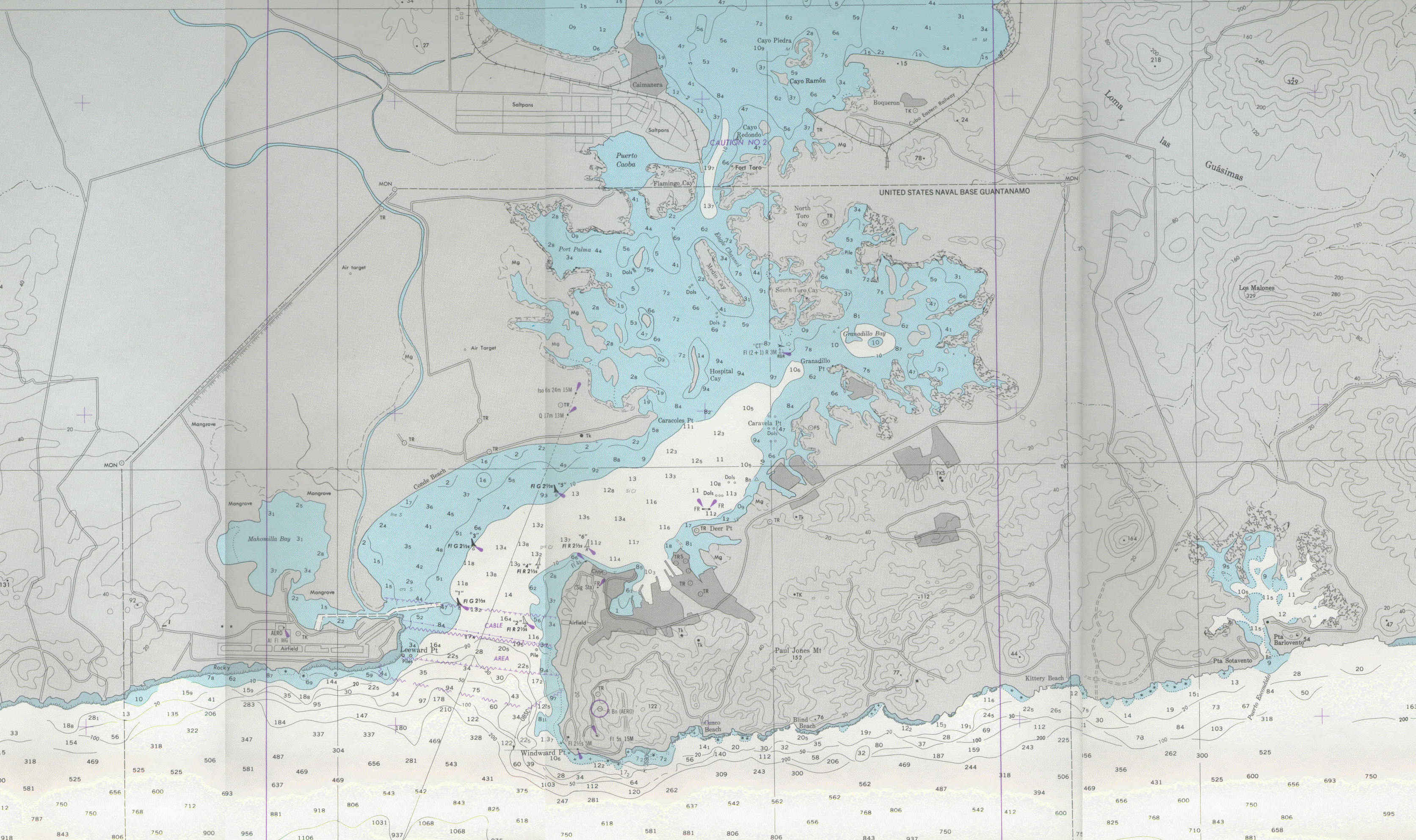 Source Excerpted From Hardcopy Of Us Defense Mapping Agency Nautical Chart No