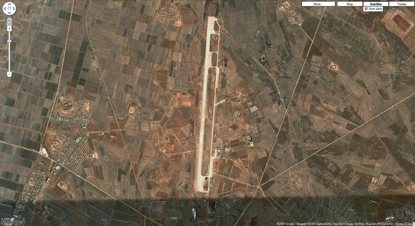 North Korea Military Air Bases Eyeball - Google map us base korea