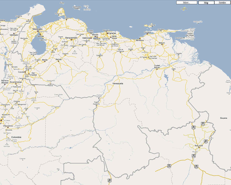 Venezuela Military Air Bases and Airports Eyeball