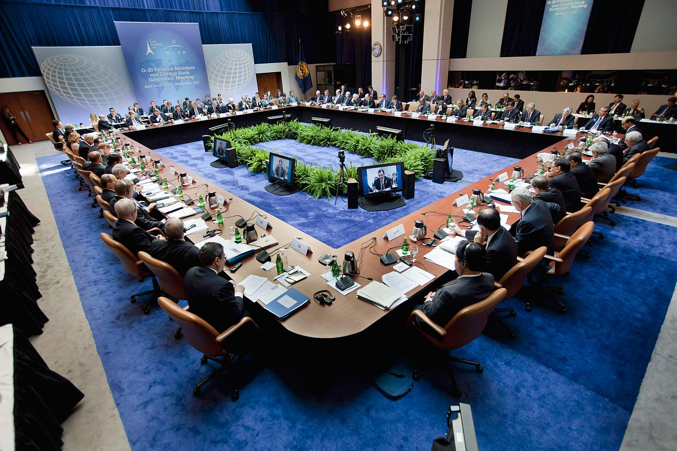 Financial crisis luxury architecture this handout photo provided by the international monetary fund imf shows g20 finance ministers and bank governors meeting in washington friday april 15 sciox Images