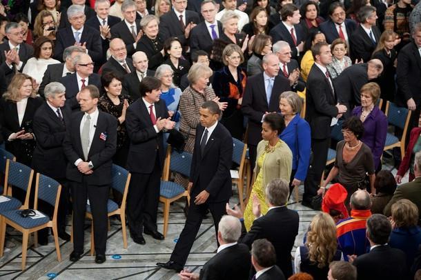 Did Obama donate his Nobel prize award?